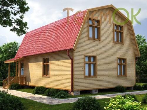 Садовый дом из бруса 6x8